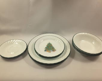 Corelle By Corning Vintage Holiday Magic Christmas Dishes; 16 Pieces 4 Piece Place Setting & Christmas dishes | Etsy