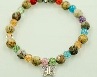 Mai Jasper bracelet- women's bracelet- beaded bracelet- stretch bracelet- jasper bracelet