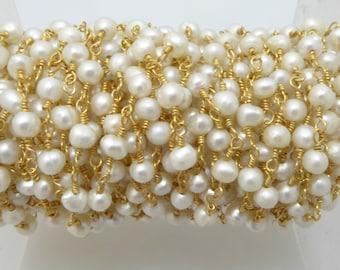 fresh water pearl rosary chain