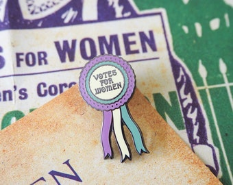 Votes for Women Enamel Pin - Votes for Women Collection - Feminist Enamel Pin - Feminism - Lapel Pins - Girl Power - Suffragettes