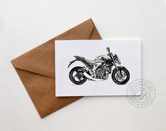 Honda Print Boyfriend Birthday Boyfriend Print Superbike Motorcycle Gift Men Motorcycle Art Husband Card Boyfriend Card Boyfriend Print Gift