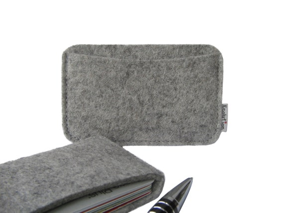 Wool felt business card holder minimalist wallet handmade wool felt business card holder minimalist wallet handmade in switzerland grey eco friendly great little gift colourmoves Images