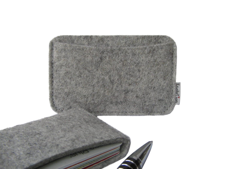 Wool felt business card holder minimalist wallet. Handmade