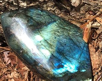 Gorgeous Flash! Freeform Labradorite - XXL Labradorite Specimen - LFF-1 - Transformation, Change, Protection, Intuition