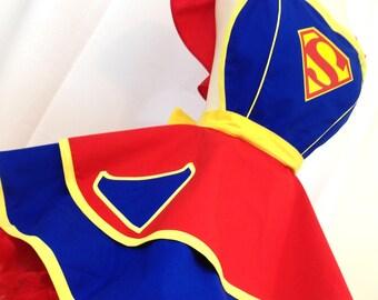Retro Apron - Super Girl Pinup Apron, Superhero Apron. Comic Book Cosplay, Costume Apron, Woman's Apron, Hostess Apron