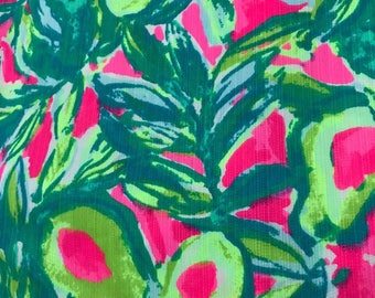 Guac and Roll cotton dobby 6 X 6,  9 X 18 inches or 18 X 18 inches or one yard ~Authentic Lilly Pulitzer~