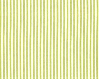 Fat quarter - Little Stripe in Kryptonite - Michael Miller cotton quilt fabric