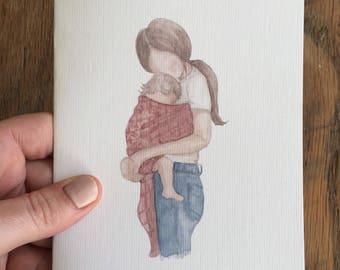 Five 'Babywearing' Cards