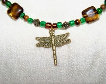Dragonflies and Bees Necklace