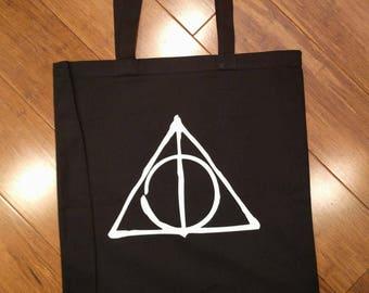 Deathly Hallows Canvas Tote Bag