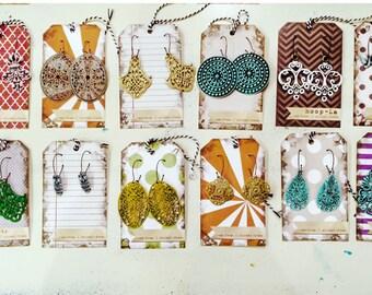 3 RANDOM Pairs of LIGHTWEIGHT dangle earrings