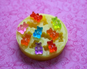 Gummy Bear Mold Silicone Mold Chocolate Fondant Sugar Butter Soap Wax Mold Polymer Clay Cabochon Mold