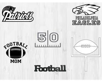 6 Football / 2018 NFL super bowl SVG, Football svg, Football cutfile svg, svg files for silhouette cameo, cricut explore, dxf file