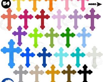 christian clipart featuring church symbols cross equals rh etsy com Religious Symbols Clip Art Religious Spring Clip Art