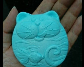 Cat & Fish Silicone Soap Chocolate Candy mold Craft Molds DIY Handmade soap molds