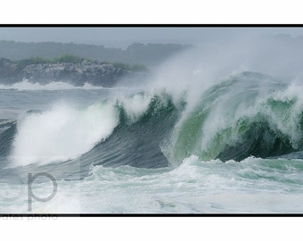 "Ocean Waves Photography, ""East Point, Biddeford Pool""  fine Art Print"