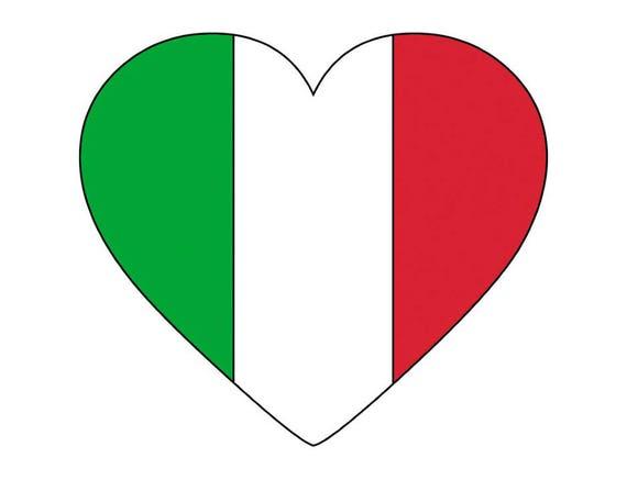 italy italian italia heart shaped world national nation