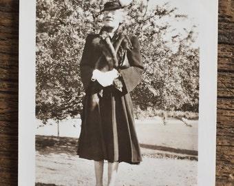 Original Vintage Photograph Old Lady Eccentric