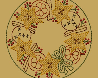 MACHINE EMBROIDERY-Orange, Cinnamon, Spice Candle Mat-5-Inch-Motif-Instant Download