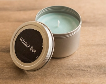 Clean Laundry Soy Candle Tin, Soy Candles, Soy Wax Candle, Travel Candle, Camping Candle, Outdoor Candle, Container Candle, Homemade Candles