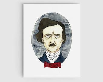 Edgar Allan Poe Portrait Giclee Print