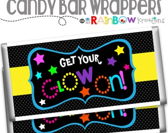 075-02 Candy Bar Wrapper: Glow In The Dark - Instant Downloadable File