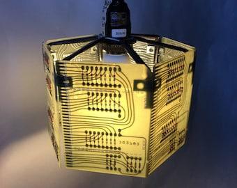 Circuit Board Swag Lamp