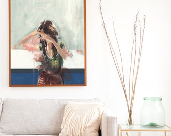 Unclasped .  extra large wall art . giclee print