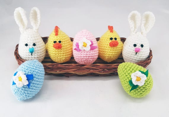 Easter stuffers easter eggs crochet eggs easter gifts bunny like this item negle Gallery
