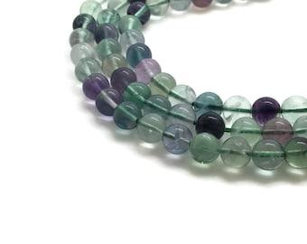 10mm Natural Fluorite Beads Round 10mm Fluorite 10mm Rainbow Fluorite Stone Fluorite Mala Fluorite Jewelry Supplies Jewelry 10 mm Bead 10 mm