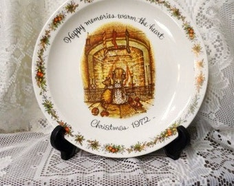 Nos vintage 1972 holly hobbie christmas collectors plate.
