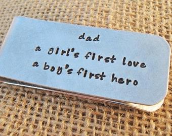 Money Clip - Gift for man - Dad money clip - Personalized money clip for Dad - Father's Day Gift for Dad
