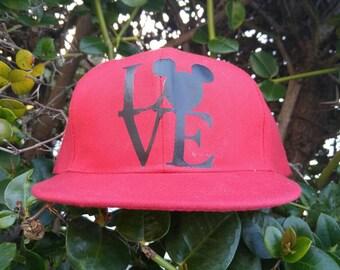 Mickey Ears Cap. Mickey love hat. Mickey baseball cap.