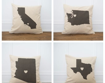 Personalized City & State pillow Cover