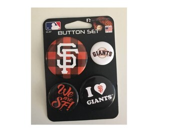 San Francisco Giants MLB Button Set
