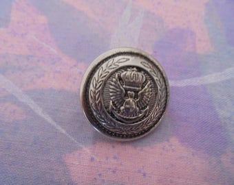 Vintage silver metal 22 mm button
