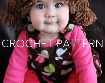 Crochet Pattern Cabbage Patch Hat  - Cabbage Patch Hat Pattern - Cabbage Patch Wig - Cabbage Patch Kid Hat - Cabbage Patch Costume