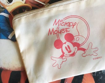 Mickey Mouse Zip Top Bag (Vintage)