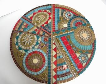 Southwestern Mosaic Lazy Susan, Home Decor, Housewarming Gift, Wedding Gift, Cabin Decor, Southwestern Decor, Abstract Mosaic, Mother's Day