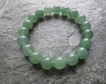 The beautiful green aventurine bracelet! Stretch bracelet in natural green aventurine 10mm beads Reiki infused