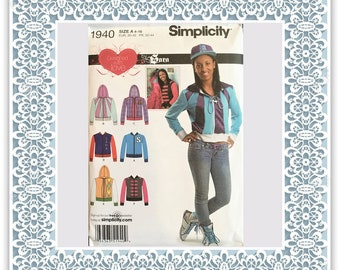 Simplicity 1940 (2011) Misses' jacket with trim variations - Uncut Sewing Pattern