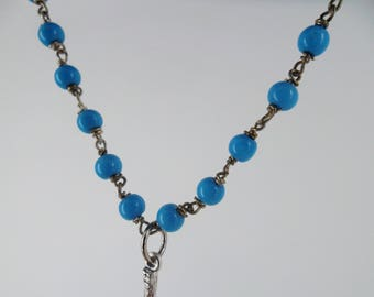 Turquoise necklace crucifix