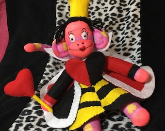 Queen of Hearts the SockMonkey inspire by Alice in Wonderland Doll