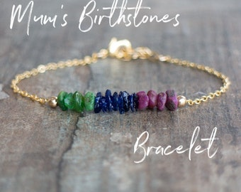 Mothers Day Gift, Personalized Mom Bracelet, Custom Bracelet, Gift for Mom, Family Birthstone Bracelet, Gemstone Jewelry, Grandma Bracelet