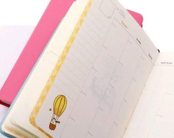 Molang Diary, Kawaii Rabbit Planner, Agenda, Journal, Schedule Book, Stationary Gift, Paper, 2018