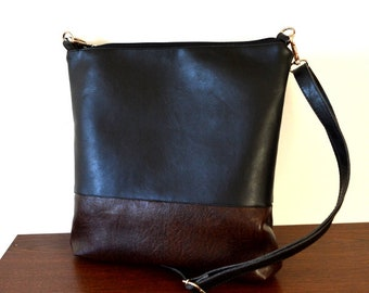 Crossbody bag, Everyday purse, Color-block Shoulder Bag