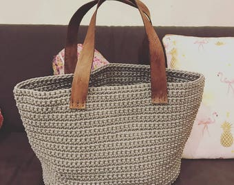 Crochet Bag Pattern (Utilitarian) Instant Download