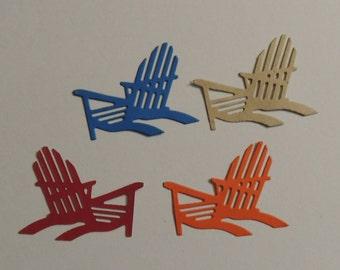 6 Beach Chairs Die Cuts