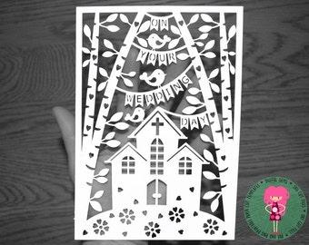 Church papercut | Etsy