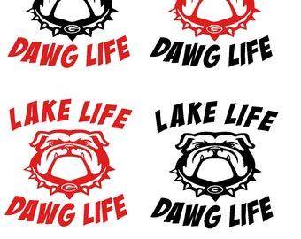 Lake Life Dawg Life Decal
